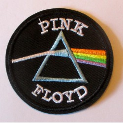patch groupe rock pink floyd 6.3 cm  écusson  thermocollant  veste chemise