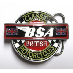 boucle de ceinture BSA moto classic british USA homme femme mixte