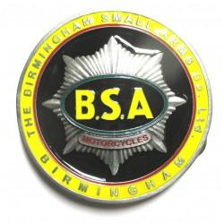 boucle de ceinture BSA motorcycle logo jaune USA homme femme mixte