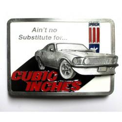boucle de ceinture voiture americaine muscle car cubic inches USA homme femme mixte