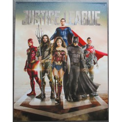 plaque super hero justice league tole affiche deco metal usa loft