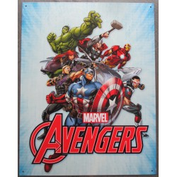 plaque super heros marvel avengers tole affiche deco metal usa loft