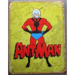 plaque super heros ant-mansur fond jaune vieilit tole affiche deco metal usa loft
