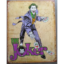 plaque super mechant the joker le clown fou tole affiche deco metal usa loft
