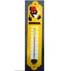 thermometre banania visage tirailleur ancien modele tole metal cuisine bar