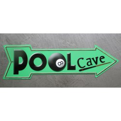 plaque fleche pool cave billard 8 ball usa tole affiche déco metal pub
