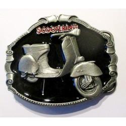 boucle de ceinture scooter fond noir vespa lambretta officielangleterre homme femme mixte