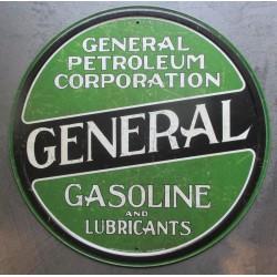 plaque general gasoline petroleum affiche déco metal pub 30cm