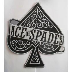 gros patch as of spades noir et blanc 25x22cm écusson dos veste blouson biker  fan motorhead