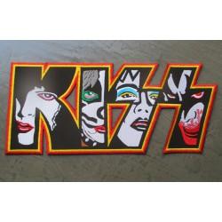 gros patch kizz groupe de hard rock 29x12.5 cm écusson dos veste blouson biker  fan musique