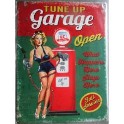 plaque pin up tune up garage pompe a essence tole deco usa loft
