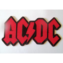 patch thermocollant ACDC logo rouge 12x6cm  hard rock  groupe