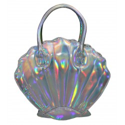 sac a main en forme de coquillage brillant  idéal pin up rockab collectif