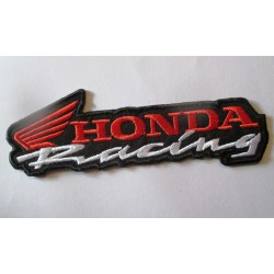 patch  moto honda racing rouge blanc  ecusson veste blouson huile