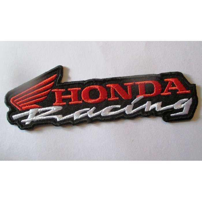 patch  moto honda racing rouge blanc  ecusson veste blouson huile