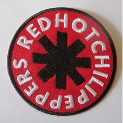 patch  groupe red hot chili pepers rond rouge écusson veste blouson huile