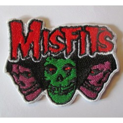 patch groupe rock misfits 3 cranes colorés ecusson thermocollant veste blouson
