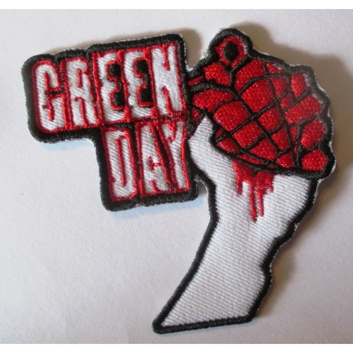 patch  groupe green day main qui serre un coeur écusson veste blouson rock roll