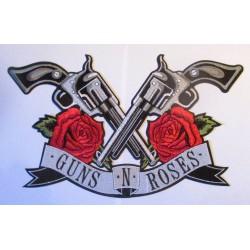 gros patch groupe guns  & roses pistolets croisés ecusson groupe rock roll