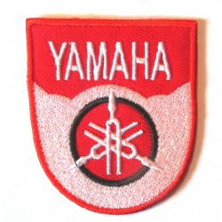 patch yamaha blason rouge blanc 6.3cm écusson veste blouson rock roll
