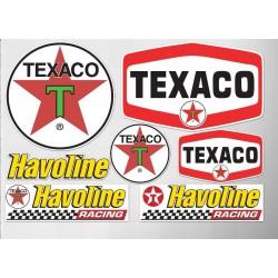 1 planche de stickers tecaco huile essence decoration auto moto rallye