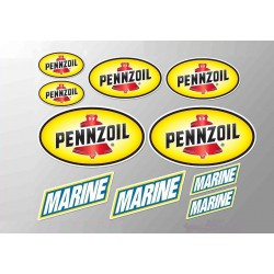 1 planche de stickers pennzoil motor oil huile essence decoration auto moto rallye