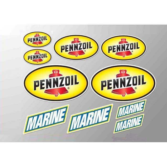 1 planche de stickers pennzoil motor oil huile essence decoration auto moto rallye