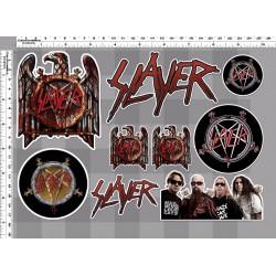 1 planche de stickers groupe hard rock slayer decoration auto moto fan musique