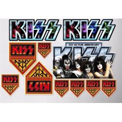 1 planche de stickers groupe hard rock kizzdecoration auto moto fan musique