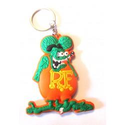 porte clé rat fink vert orange plastique souple kustom usa