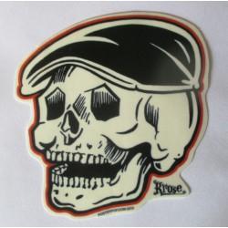 sticker rane casquette kruse  12x11cm autocollant rockabilly