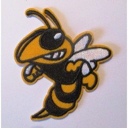 patch mopar road runner guepe noir jaune 7.5 cm écusson veste blouson rock roll