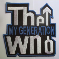 gros patch du groupe the who  my generation 20.5cm ecusson thermocollant groupe rock roll