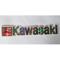 sticker moto kawasaki  15cm  autocollant avec des reflets métalique