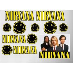 1 planche de stickers groupe de grunge nirvana kurt decoration auto moto fan musique