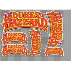 1 planche de stickers sheriff fais moi peur dukes of hazzard kurt decoration auto moto fan musique