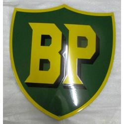grosse plaque emaillée  huile BP verte 53x47 cm cm tole email americaine