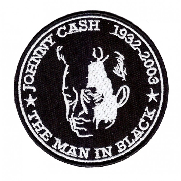 patch johnny cash men in black 1932-2003 ecusson country rock