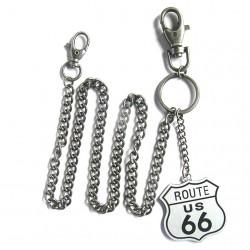 chaine de portefeuille route 66 métal biker rock roll usa