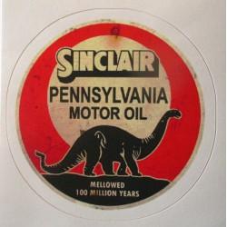mini sticker standard oil company vieillit style ancien 7.5cm autocollant look année 50 rock roll
