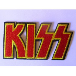 patch groupe kiss ecriture rouge ecusson thermocollant  hard rock