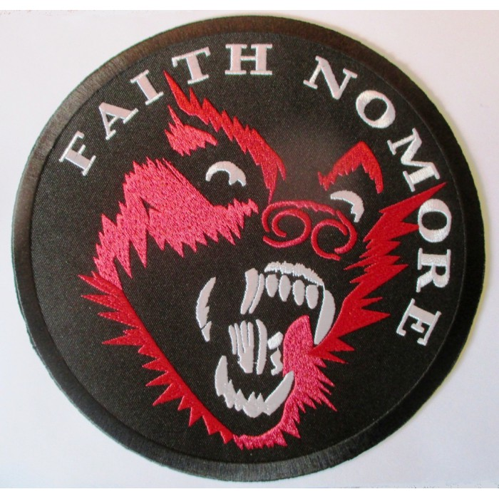 gros patch groupe faith no more 20.5 cm écusson thermocollant dos veste blouson biker  fan musique