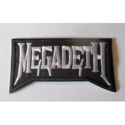 patch groupe megadeth noir blanc 8x4 cm rouge ecusson thermocollant  hard rock
