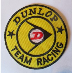 patch dunlop team racing ecusson veste blouson pneu garage