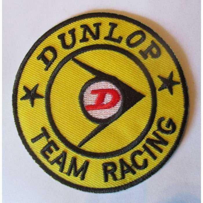 patch dunlop team racing ecusson veste blouson pneu garage