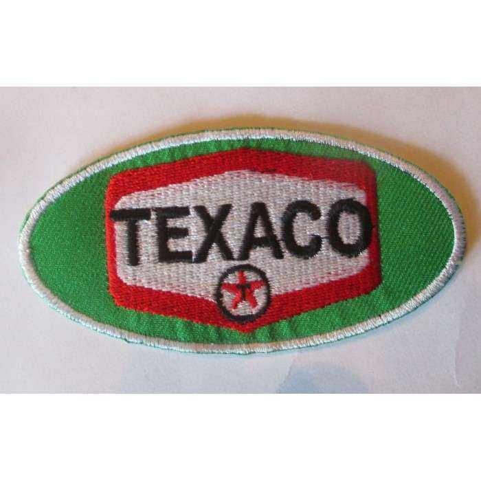 patch texaco oval vert ecusson veste blouson huile essence garage
