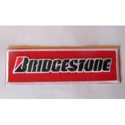 patch pneumatique bridgestone rouge 12.5cm ecusson veste blouson huile