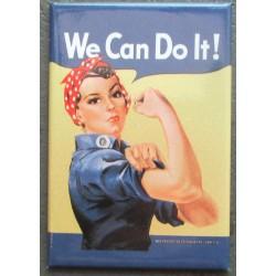 magnet 8x5.5 cm we can do it , rosie la riveteuse deco garage cuisine bar diner loft frigo