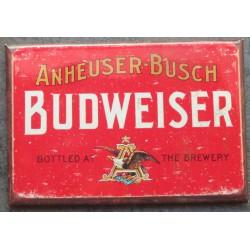 magnet 8x5.5 cm biere budweiser logo rouge deco garage cuisine bar diner loft frigo