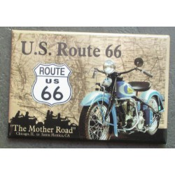 magnet 8x5.5 cm moto route 66 mother road usa deco garage cuisine bar diner loft frigo
